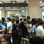 Taxi line at Dubai Mall