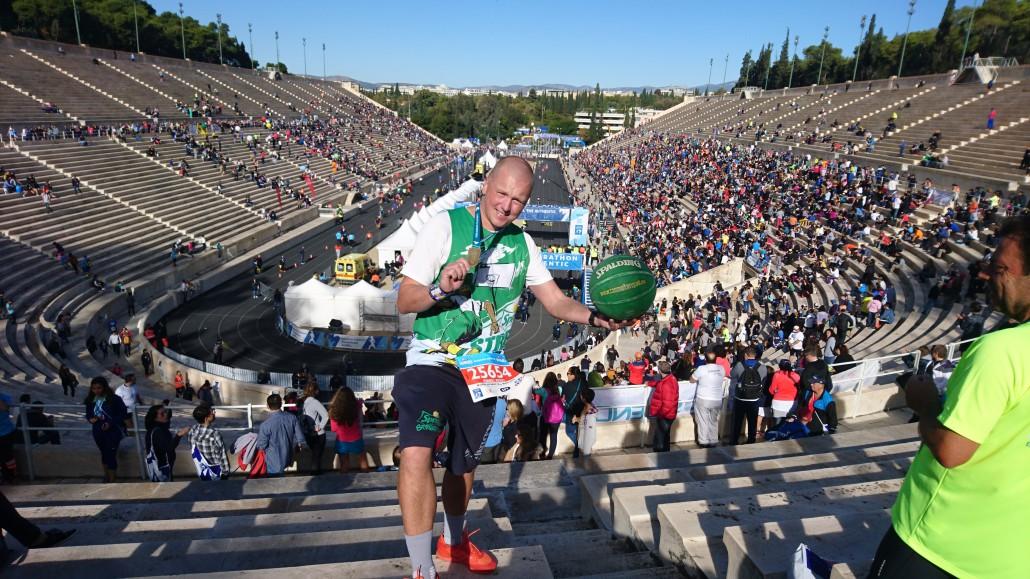 Ateena Maraton 10k. Korvpalliga.